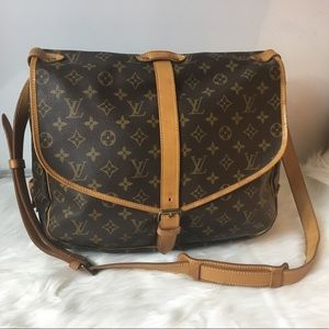 100%Authentic Louis Vuitton 1989 Vintage Saumur 35